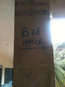 The Bed Office at my CET centre. Must be good to work there.