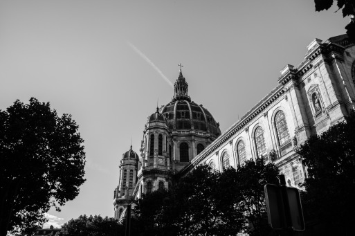 Captured near the Arc de Triomphe around golden hour.