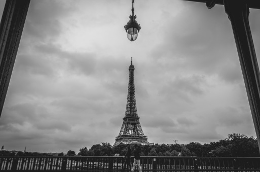 Eiffel Tower captured from the Bir Hakeim bridge.
